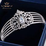 Bavoen High Quality European Royal Brides Crowns Tiaras Sparkling Zircon Bridal Hairbands <b>Wedding</b> Hair Accessories Prom <b>Jewelry</b>