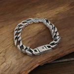 925 <b>Sterling</b> <b>Silver</b> Personalized Bracelet Vintage Punk Heavy Handmade Men <b>Jewelry</b> Armbanden Voor Vrouwen