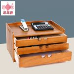 2016 Hot Sale Organizador Organizer Solid Wood Office <b>Supplies</b> Desk File Storage Box Top Drawer Type Small Cabinet Finishing