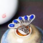 ring manufacturers selling in Europe and the crown of silver inlaid lapis ring Ring female <b>jewelry</b> <b>supplies</b> wholesale