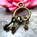 30pcs 13*24mm Antique Bronze Silver Key Chain Wholesale DIY <b>Jewellery</b> Accessories Vintage Metal Alloy Pendant <b>Decorations</b>