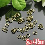 250G/PIECE Wholesale Gold Plated COPPER Based 4/5/6/8/10/12mm Opening Split Ring Accessories for <b>Jewelry</b> <b>Making</b>