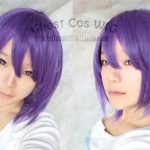 100% Brand New High Quality <b>Fashion</b> Picture wigs >>2016 hot sell Murasakibara Atsushi <b>Fashion</b> Short Purple Cosplay Straight Wig