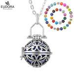 Eudora <b>Jewelry</b> <b>Antique</b> Style Fashion Copper Metal Locket Cage Pendant fit 18mm Harmony Bola Ball Necklace Angel Caller Pendants