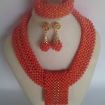 Fantastic Wedding African Coral Beads <b>Jewelry</b> Set <b>Handmade</b> Party Bridal Statement Necklace Earrings Set CNR723