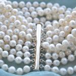<b>Wedding</b> Woman <b>Jewelry</b> 8 Strands Pearl Bracelet 6mm Bright White Real Natural Freshwater Pearl Bracelet