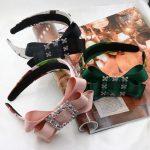 2016Summer New <b>Fashion</b> Baroque Crystal Gem Hair Hoop Vintage ribbon Bowknot Headband elegant Women Hair Accessories <b>Jewelry</b> Gift