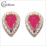 Classic ruby <b>silver</b> stud <b>earrings</b> 4 mm *6 mm natural blood red ruby <b>silver</b> <b>earrings</b> solid 925 <b>silver</b> ruby stud <b>earrings</b> for girl