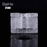BAIHE <b>Sterling</b> <b>Silver</b> 925 1.2T Certified H/SI3 Round Cut 100% Genuine Natural Diamonds Engagement Men Trendy Fine Jewelry <b>Ring</b>