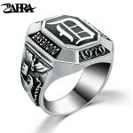 ZABRA Real Silver 925 Mens Signet Ring The Vampire Diaries Rings For Men Black Punk Rock Classic Gift Cool Movies <b>Jewelry</b>