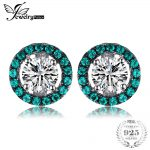 JewelryPalace Brand Classic 1.14ct Created Emeralds CZ Round Stud Earrings 925 Sterling Silver Women Gift <b>Wedding</b> <b>Jewelry</b> 2018