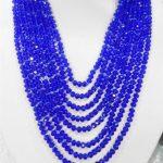 Prett Lovely Women's Wedding 8 rows <b>jewelry</b> dark blue Crystal beads chain necklace, 5 rows Bracelet sets