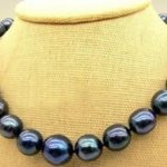 "Hot selling free shipping*****The new 10-11mm plated buckle Tahiti Pearl Beads <b>Necklace</b> 18 ""AA + natural"