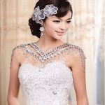 New Hot Sale Necklace Women Free Shipping <b>Wedding</b> <b>Jewelry</b> Bride Straps Crystal Flower Shoulder Chain Bridal Necklace Decorated