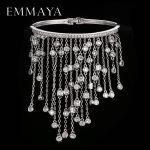 EMMAYA Luxury AAA Cz Tassel Bracelet Bangle Femme Charm Crystal Crystal Bracelets Bangles Unique Hand <b>Jewelry</b>