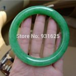 Natural Round Bangle Woman's Green Bracelet <b>Handmade</b> Fashion <b>Jewelry</b> Gift Bangles +certificate 58-60mm