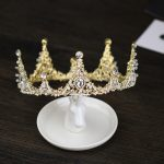 Baroque Gold Wedding Hair Accessories Crystal Tiaras Crowns <b>Handmade</b> Bridal Pageant Princess Round Crowns Hair <b>Jewelry</b> For Women