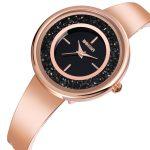WEIQIN Colorful Rhinestone Women's Watches Fashion Rose Gold Blue <b>Silver</b> Steel <b>Bracelet</b> Watch Lady Quartz Wristwatch reloj mujer