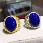 Natural lapis lazuli tourmaline Ring Natural gemstone Ring 925 <b>sterling</b> <b>silver</b> trendy luxurio big round women men party <b>Jewelry</b>