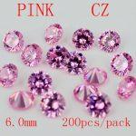 MRHUANG <b>Jewelry</b> <b>Supplies</b> AAA Grade CZ Cubic Zirconia PINK Round Zircon 6.0MM DIY <b>Jewelry</b> Findings <b>Supplies</b> Free Shipping