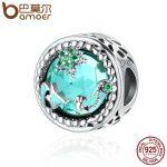 BAMOER <b>Fashion</b> New Genuine 925 Sterling Silver Mystery Ocean Charms Beads fit Women Charm Bracelets DIY Stone <b>Jewelry</b> SCC246
