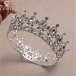 CC crowns tiaras hairbands princess crystal luxury <b>wedding</b> hair accessories for women queen hairwear birthday gift <b>jewelry</b> HG536