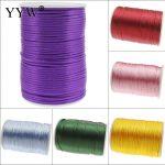 100m 2mm Nylon Cord Thread Chinese Knot Macrame Cord Plastic String Strap DIY Rope Beads Necklace Shamballa Bracelet <b>Making</b>