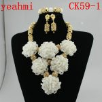 2018 <b>Handmade</b> Chunky African Wedding <b>Jewelry</b> Sets Nigerian Beaded Wedding Bridal Necklace <b>Jewelry</b> Sets Free Shipping CK59-1