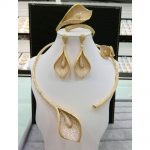 GODKI Flower Leaf Wreath Luxury Women Wedding Naija Bridal Cubic Zirconia <b>Necklace</b> Dubai Dress <b>Jewelry</b> Set