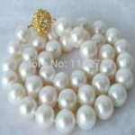 2018 new fashion moving Beautiful 9-10MM White Shell Pearl Necklace AAA+ beads <b>jewelry</b> <b>Making</b> Natural Stone BV40 Wholesale Price