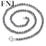 925 <b>Sterling</b> <b>Silver</b> Necklace Chains 55CM 60cm Buddha 6MM Beads Chain for Women Necklaces Thai S925 Solid <b>Silver</b> <b>Jewelry</b> Making