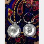 Turkey Gypsy Morocco <b>Handmade</b> Earrings Hippie Exaggerated Ancient Silver Round Big earrings Limited <b>Jewelry</b> Middle East Girl