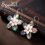 Special New Fashion Natural Pearls Drop <b>Earrings</b> 925 Sterling <b>Silver</b> Ear Hook Abalone Shell Jewelry Gifts for Women S1636E
