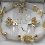 Prett Lovely Women's Wedding Wholesale New Silver White gem elephant pendant & Errings Bracelet sets silver <b>jewelry</b> brinco