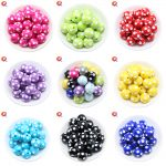 Cordial Design <b>Fashion</b> <b>Jewelry</b> Mixed Color 12MM 14MM 16MM 18MM 20MM Resin Polka Dot Beads For Chunky Beaded Necklace <b>Jewelry</b>