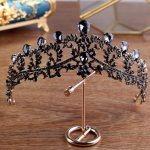 Vintage Luxury Hair Charm Crystal Black Tiara Headbands Beauty Rhinestone Wedding Prom Crown Bridal Baroque Head <b>Jewelry</b> Pieces