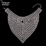 Dvacaman Brand Maxi Bib Pendant Necklace Large Metal Statement Necklace <b>Jewelry</b> <b>Accessory</b> Femme Bijoux Wholesale Facotry PP81