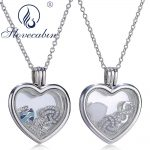 Slovecabin Genuine 925 Sterling Silver Heart Floating Pendant Choker Necklace For Women High Quality Silver <b>Jewelry</b> <b>Making</b> Femme