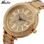 MISSFOX Miss Fox Brand Quartz Wrist Watch Gold Luxury Women Watches <b>Silver</b> Waterproof <b>Bracelet</b> Ladies Watch Bayan Kol Saati