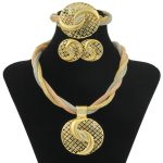 Free by Coupon New Year Gifts Italy African Brides Wedding Engagement <b>Jewelry</b> Sets <b>Necklace</b> Earrings Bracelet Dubai Gold <b>Jewelry</b>
