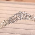 bride wedding crown hair <b>jewelry</b> bijoux women Tiara Headband head crystal rhinestone hair accessories tiara wedding noiva tiara