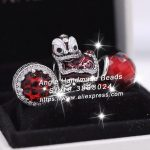 3pcs S925 Sterling Silver Chinese Red lion Dance Cz Charms <b>Jewelry</b> Set Fit DIY Bracelets Necklaces <b>Jewelry</b> <b>Making</b> Woman Gift