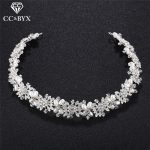 CC Headband Hairbands Crown Full Rhinestone Beads Pearl Engagement Wedding Hair Accessories For Bridal <b>Jewelry</b> <b>Handmade</b> hx146