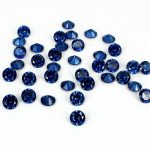 Sapphire Color 4-18mm Brilliant Cubic Zirconia Stone Round Shape Pointback Beads 3D Nail Art Decoration <b>Supplies</b> For <b>Jewelry</b> DIY