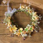 CC Flower Crowns Tiaras Wreath Forest Hairbands Wedding Hair Accessories For Bride Bridesmaids Beach <b>Jewelry</b> 100% <b>Handmade</b> mq004