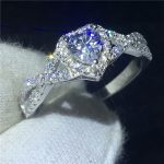 <b>Handmade</b> Heart shape Promise ring 100% Soild 925 Sterling silver <b>Jewelry</b> AAAAA Zircon cz Engagement wedding band rings for women