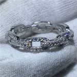H Chain Style 100% Soild 925 <b>Sterling</b> <b>Silver</b> ring Sona 5A zircon Stone Engagement Wedding Band Ring for women men <b>Jewelry</b>