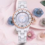 New Famous SKONE Brand Luxury Crystal Ceramic Dial <b>Bracelet</b> Quartz Wrist Watch Christmas Gift for Ladies Women Rose Gold <b>Silver</b>
