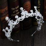 Silver Pearl Crystal Wedding Hair Accessories For Women <b>Handmade</b> Princess Tiara Crown Queen Diadem Pageants Pom Hair <b>Jewelry</b>