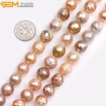 """Gem-inside Natural large Near Round Purple White Pink Nuclear Edison luster Pearls Beads for <b>Jewelry</b> <b>Making</b> 15"""" DIY <b>Jewelry</b>"""